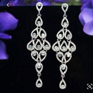 Classy long chandelier earrings